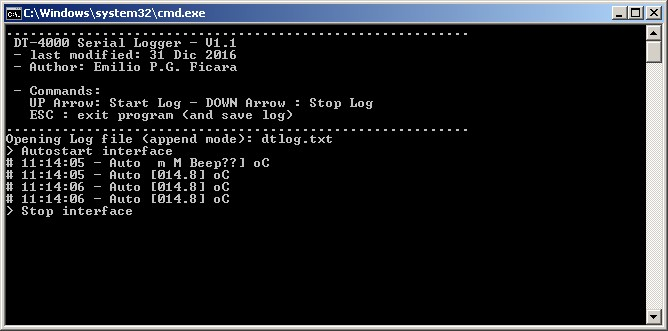 The program running with autostart flag set in the command batch file